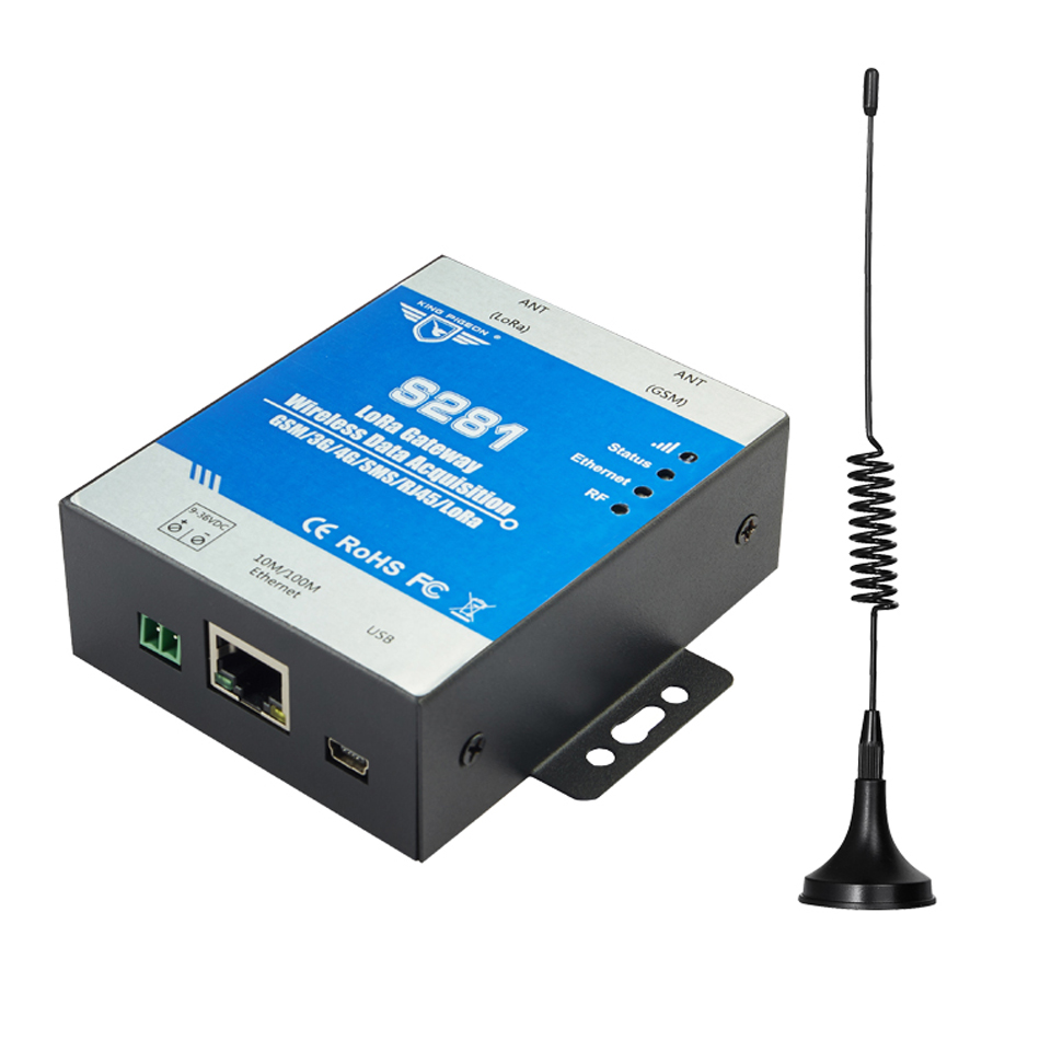 LoRa gateway wireless remote monitoring and control RF transmit RS485 GSM 3G 4G 5G ethernet to cloud gateway IoT solution
