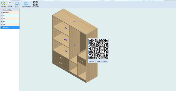 Haixun Furniture Design System QR code installation drawing Six sides drawing