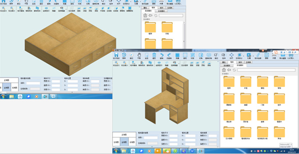 Haixun Furniture Design System Real-time update of dual-core database CAD import and export