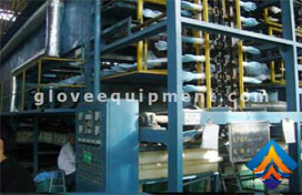 Latex glove equipment and production line