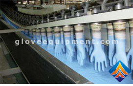 What is the latex gloves production line?