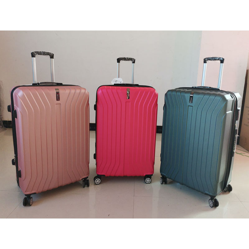 Simple Fashion Style Trolley Luggage carry on suitcase with Spinner wheels