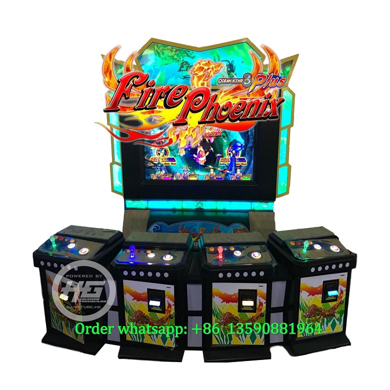 Luxury 4 Players Fish Cabinet,Ocean King Fishing Game Machine For Sale