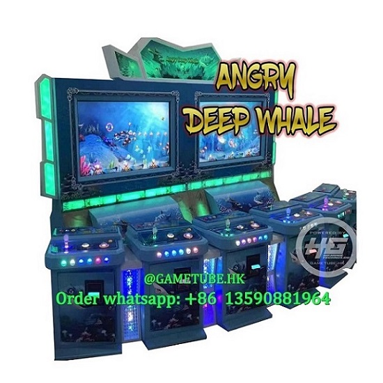 Newest Popular Us Market 3D Angry Deep Whale Fishing Game, High Profits Angry Deep Whale Upright Fish Game for Sale (GAMETUBE. HK)