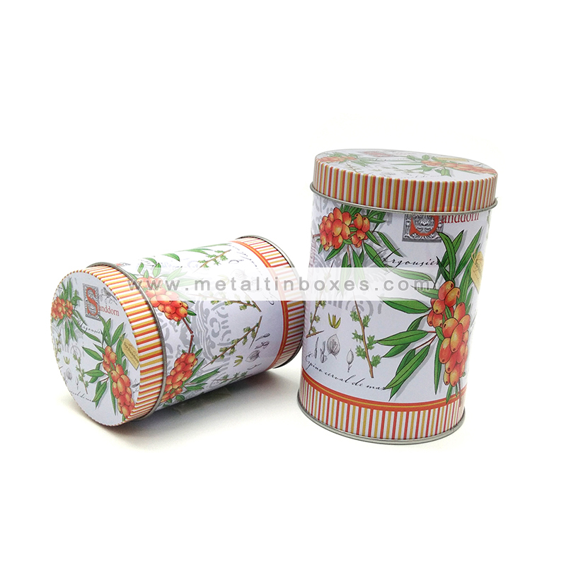 Round tea packaging metal tin box