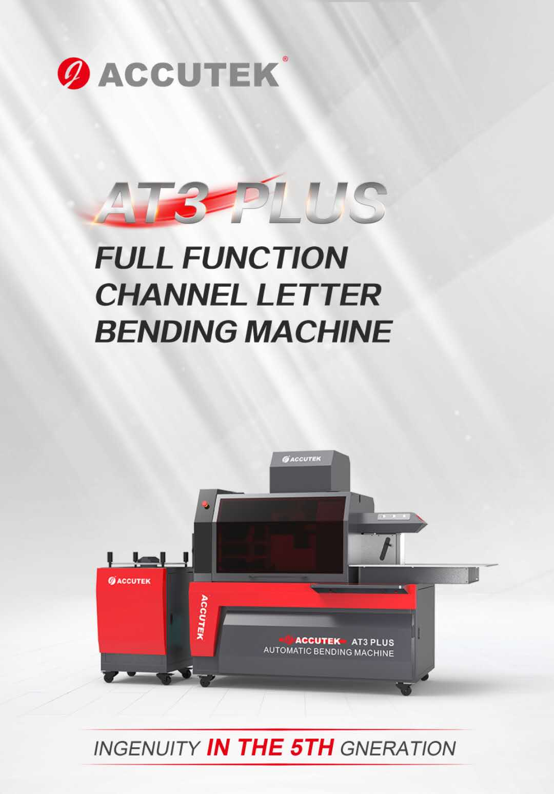 ACCUTEK AT3 PLUS FULL FUNCTION CHANNEL LETTER BENDING MACHINE
