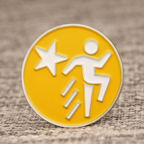 Running Man Enamel Pins