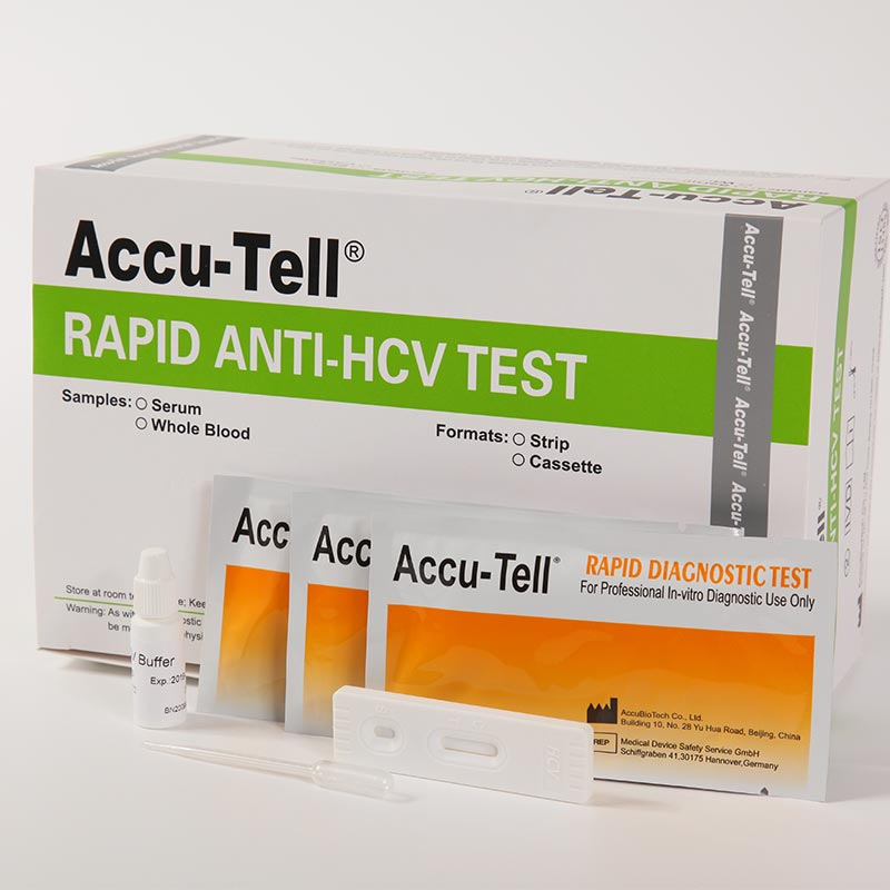 Accu-Tell® HCV Rapid Test Cassette/Strip (Whole Blood/Serum/Plasma)