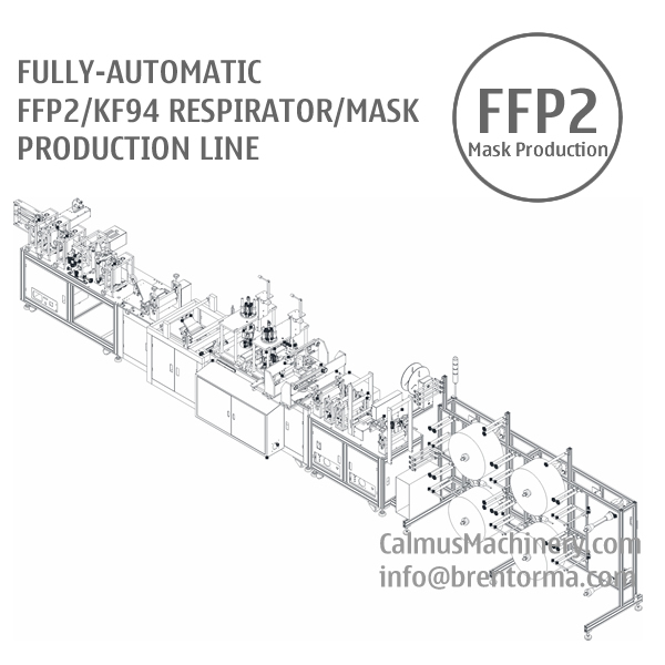 Fully-automatic FFP2 KF94 Respirator Making Machine Mask Production Line