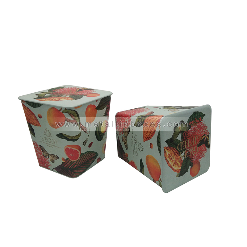 Custom food Grade biscuits packaging boxes tin cans