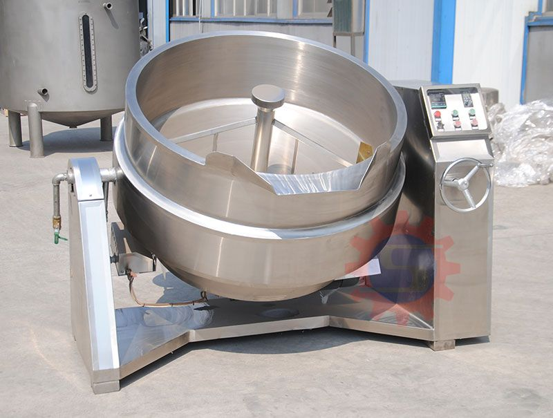 Chiliy jacketed kettle with mixer  Jacketed Kettle With Mixer  jacketed kettle price  Jacketed Mix Steam Kettle