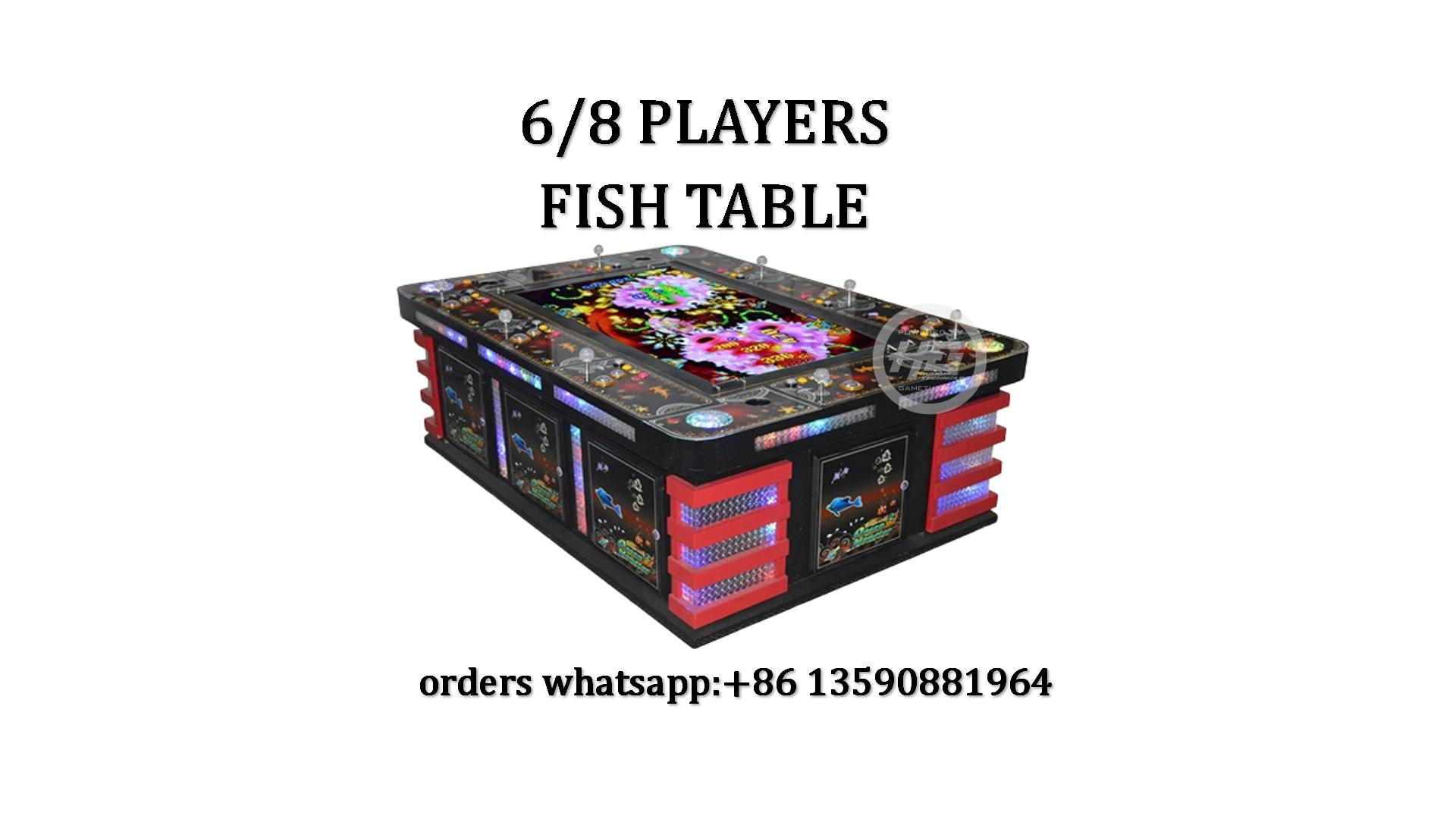 Luxury 6/8 Players Fishing Game Machine,Fish Table Game,Ocean King 3 Plus Fishing Game For Sale