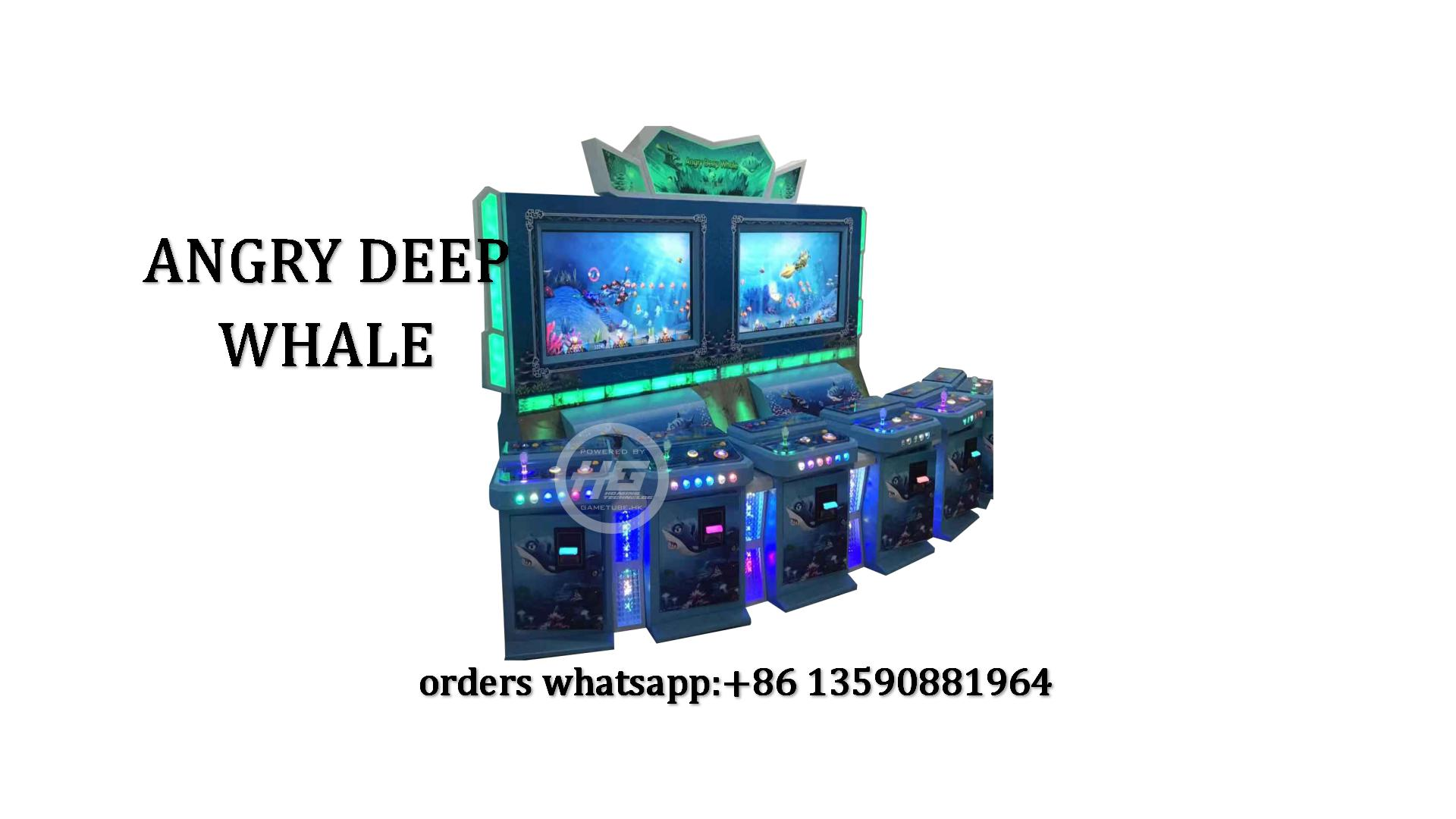 Taiwan Original Angry Deep Whale Fishing Game,6 Players Upright Fish Game Machine For Sale
