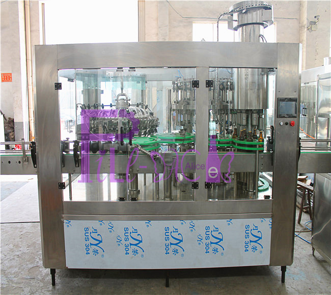 6000 bottles per hour beer bottling machine for brewery using pull ring cap
