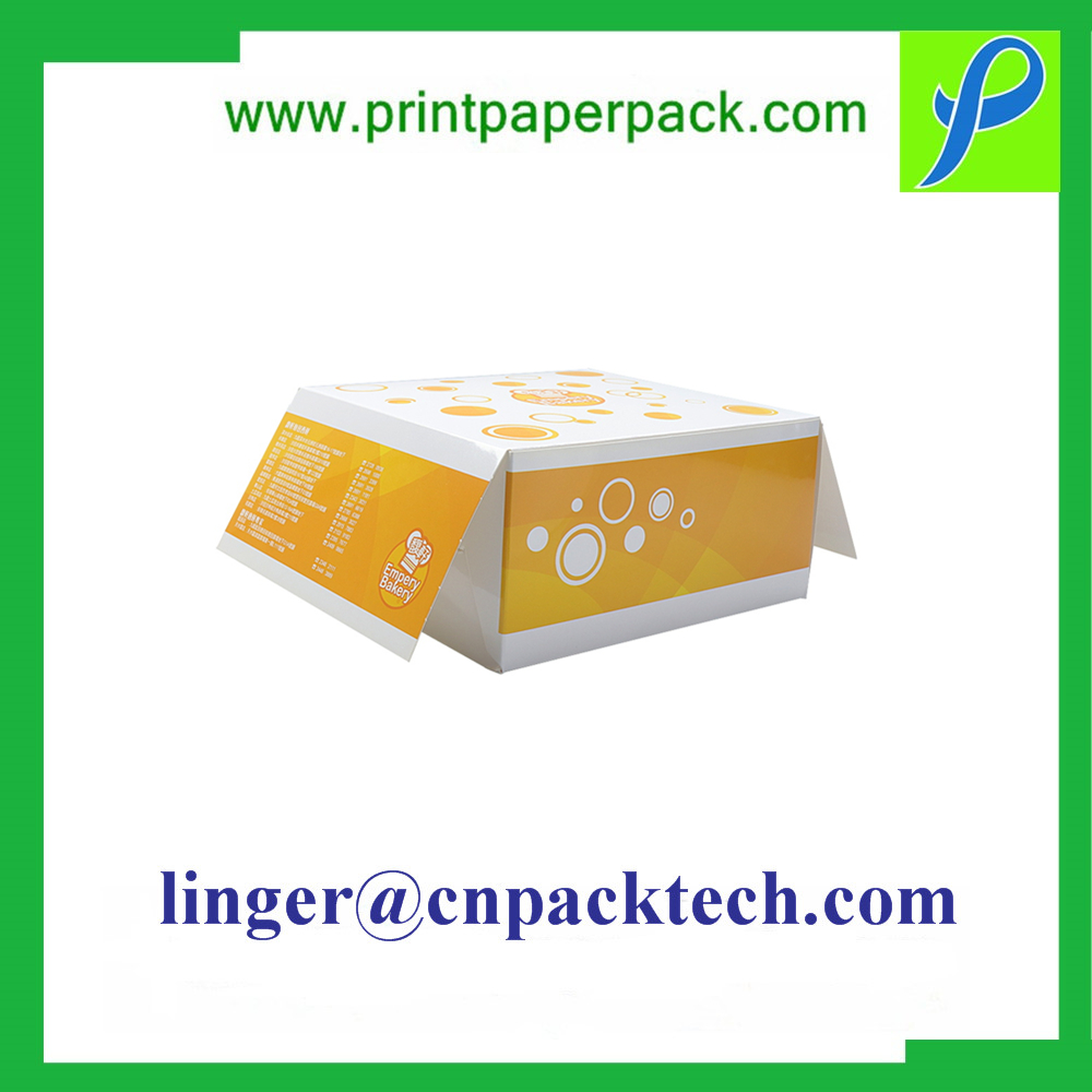 New Design Kraft Paper Box with Wristed Handle for Hamburger Fast Food