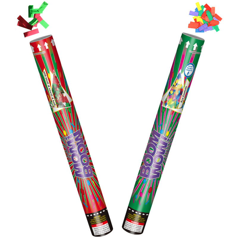 Boomwow Christmas New Year Party Colorful Confetti Cannon