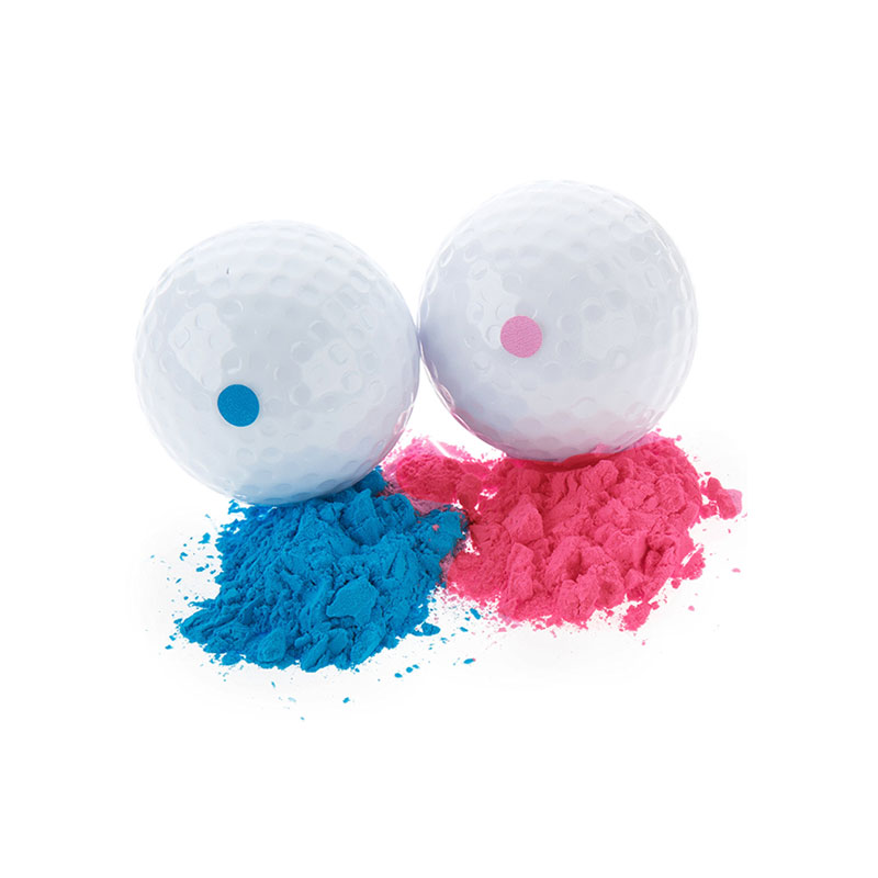 Boomwow Exploding Pink Blue Powder Gender Reveal Golf Balls For Baby Announcement Party