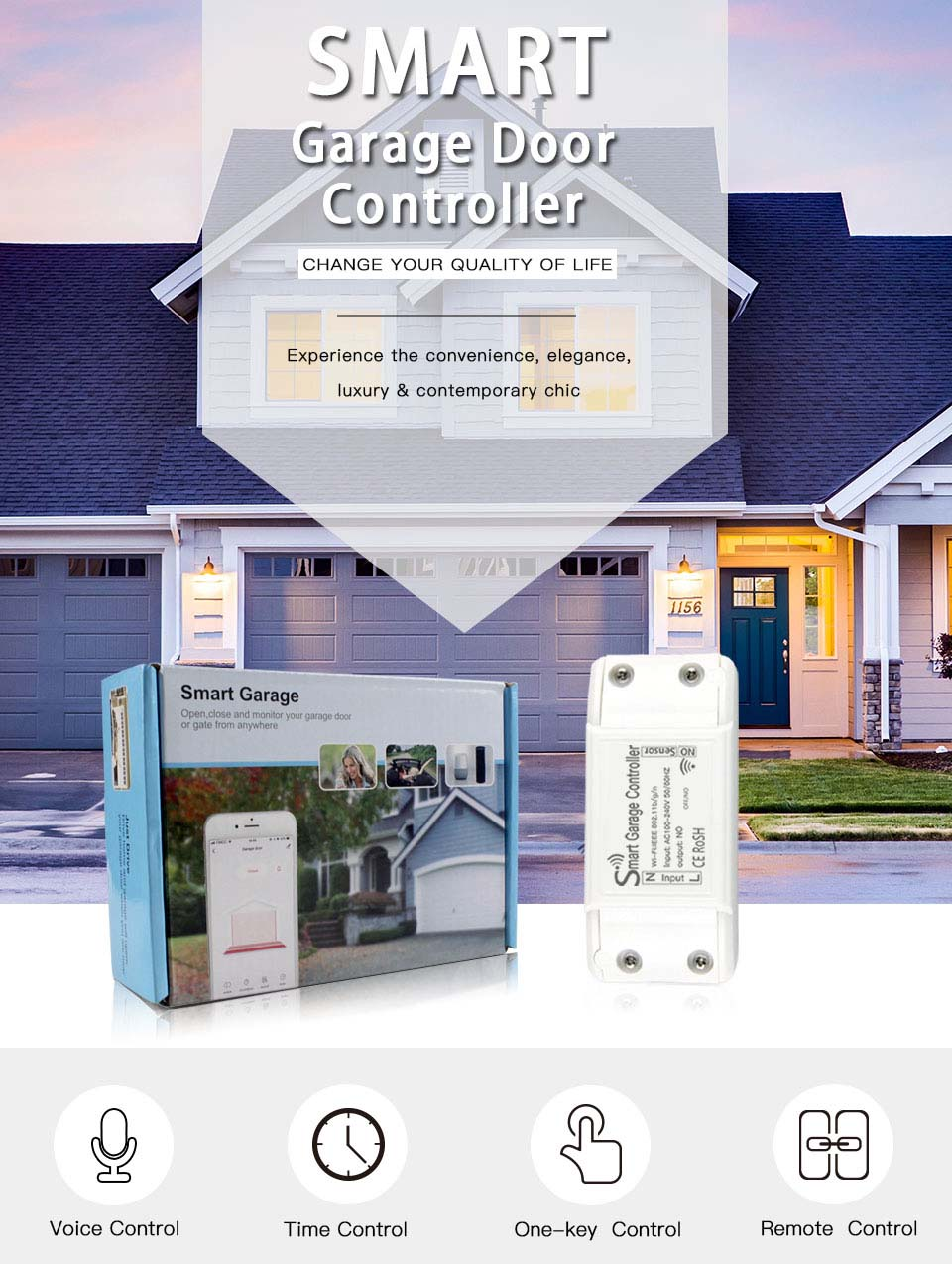 Enerna IoTech Smart Automation Garage Door Opener Remote Access Switch Control