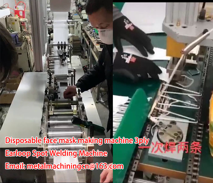 Disposable face mask making machine 3ply China