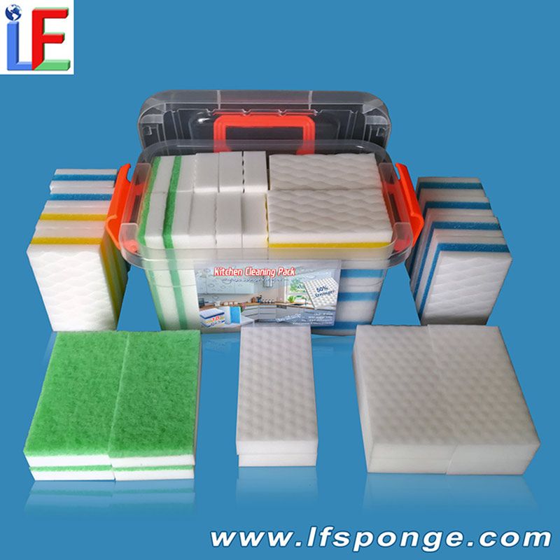 Kitchen cleaning melamine pack wholesale from lfsponge
