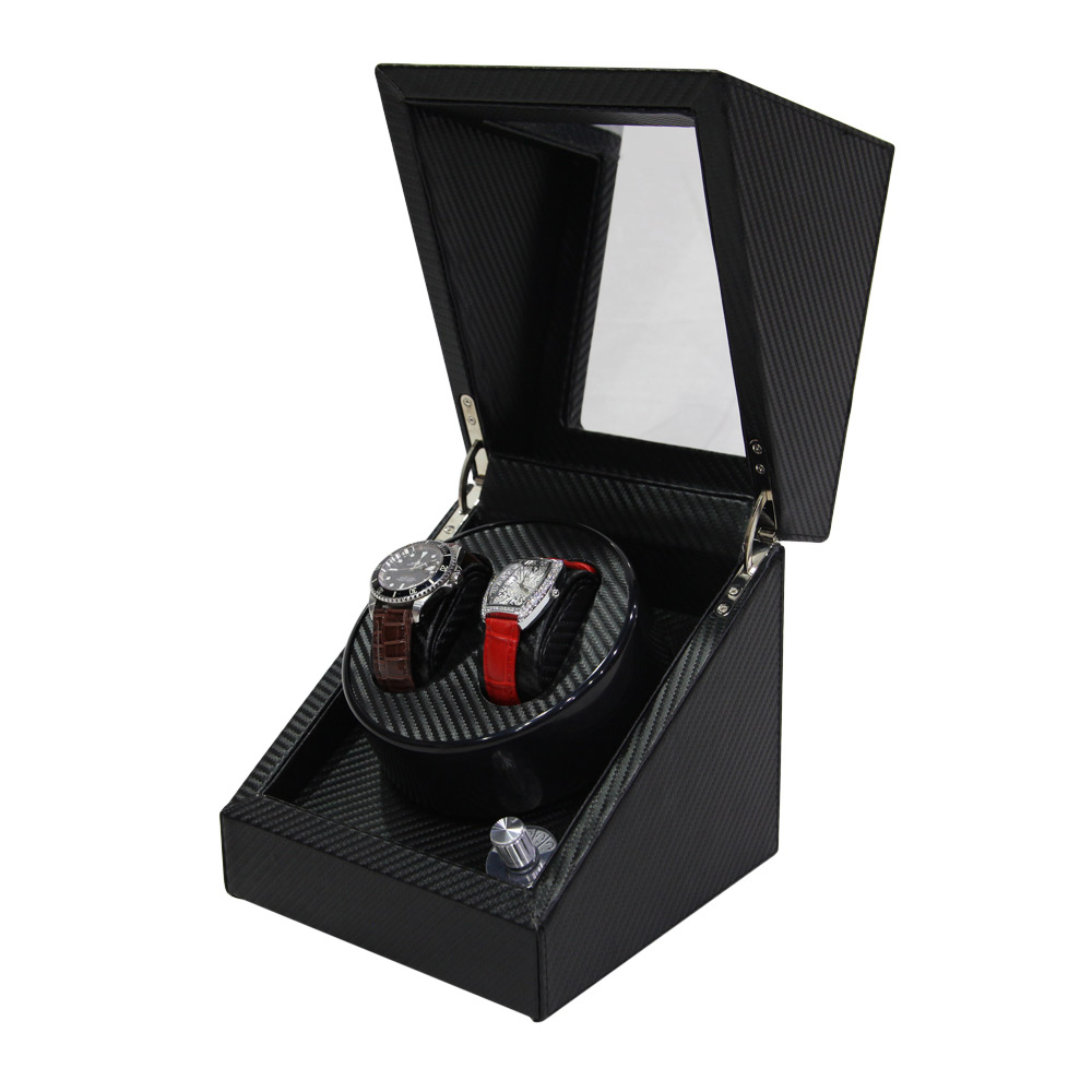 2+3 Automatic Motor Carbon Fiber Leather Watch Winder  Custom Watch Winder  best watch winders 2020