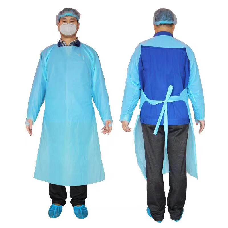 CPE plastic isolation Gown
