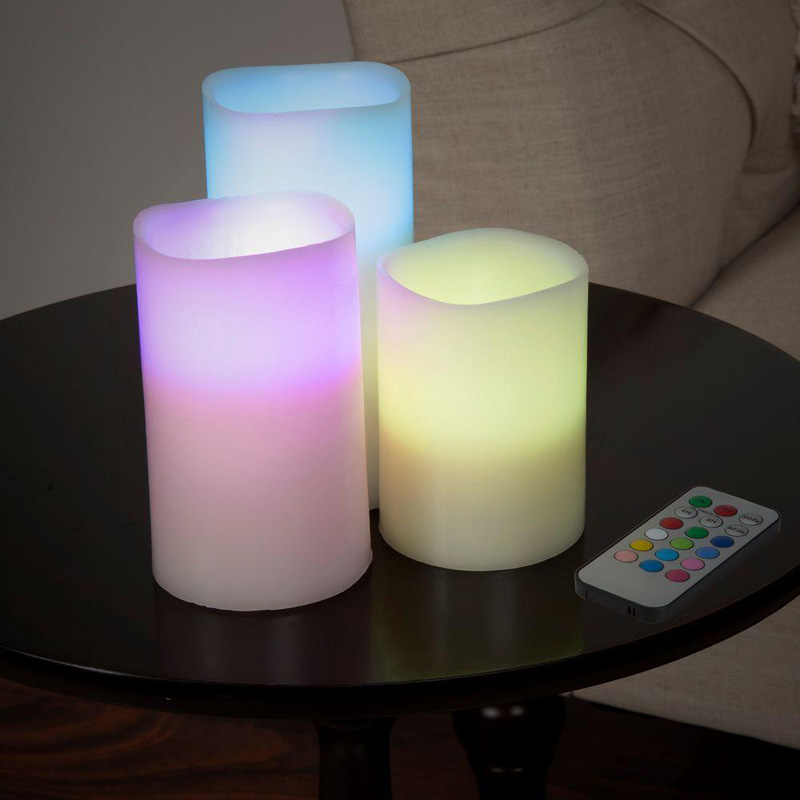 Wholesale Color Changing Remote Flameless LED Pillar Candles, Decorative Flameless Candles Supplier