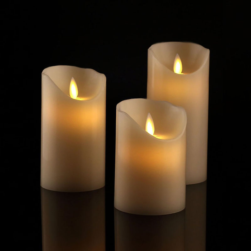 Battery Operated Led Flameless Candles, Moving Wick Candles, Electric Fake Candles