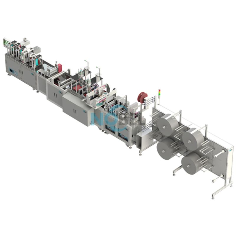 NBL-2700 High-speed Fully Automatic Mask Production Line High-Speed Mask Production Line Non Woven Mask Making Machine Manufacturer