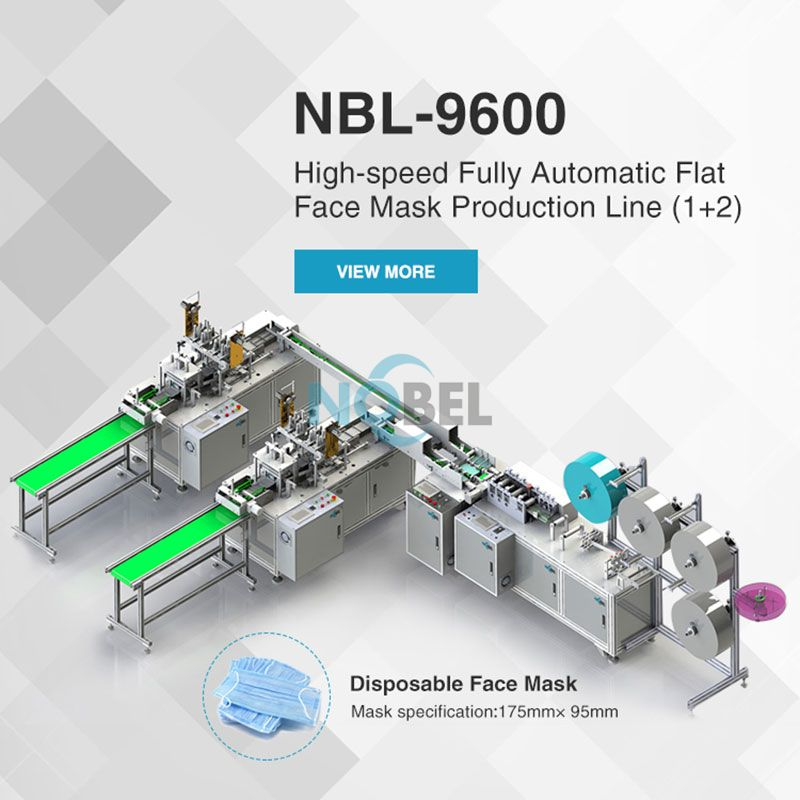 NBL-9600 High-speed Fully Automatic Flat Face Mask Production Line (1+2)  Face Mask Machine Manufacturer