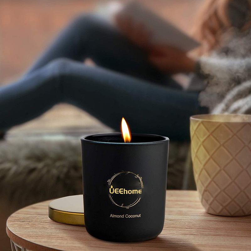 Восковые свечи Luxury Scented Soy Wax Candles in Matte Black Glass Jar
