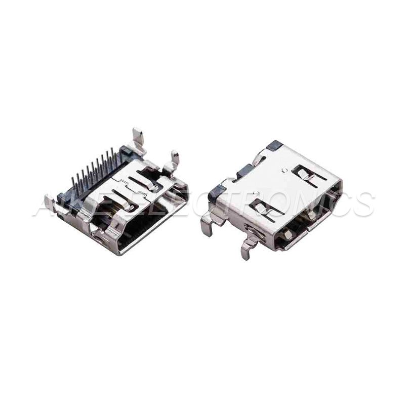 HDMI connector 19PIN DIP Type with through hole legs,sink PCB Board Type