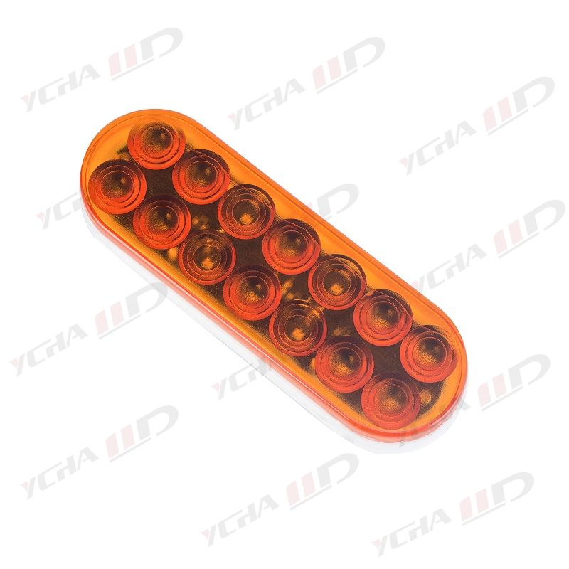 LED trailer 6 Oval Stop/Parking/Turn Signals/Tail Light amber