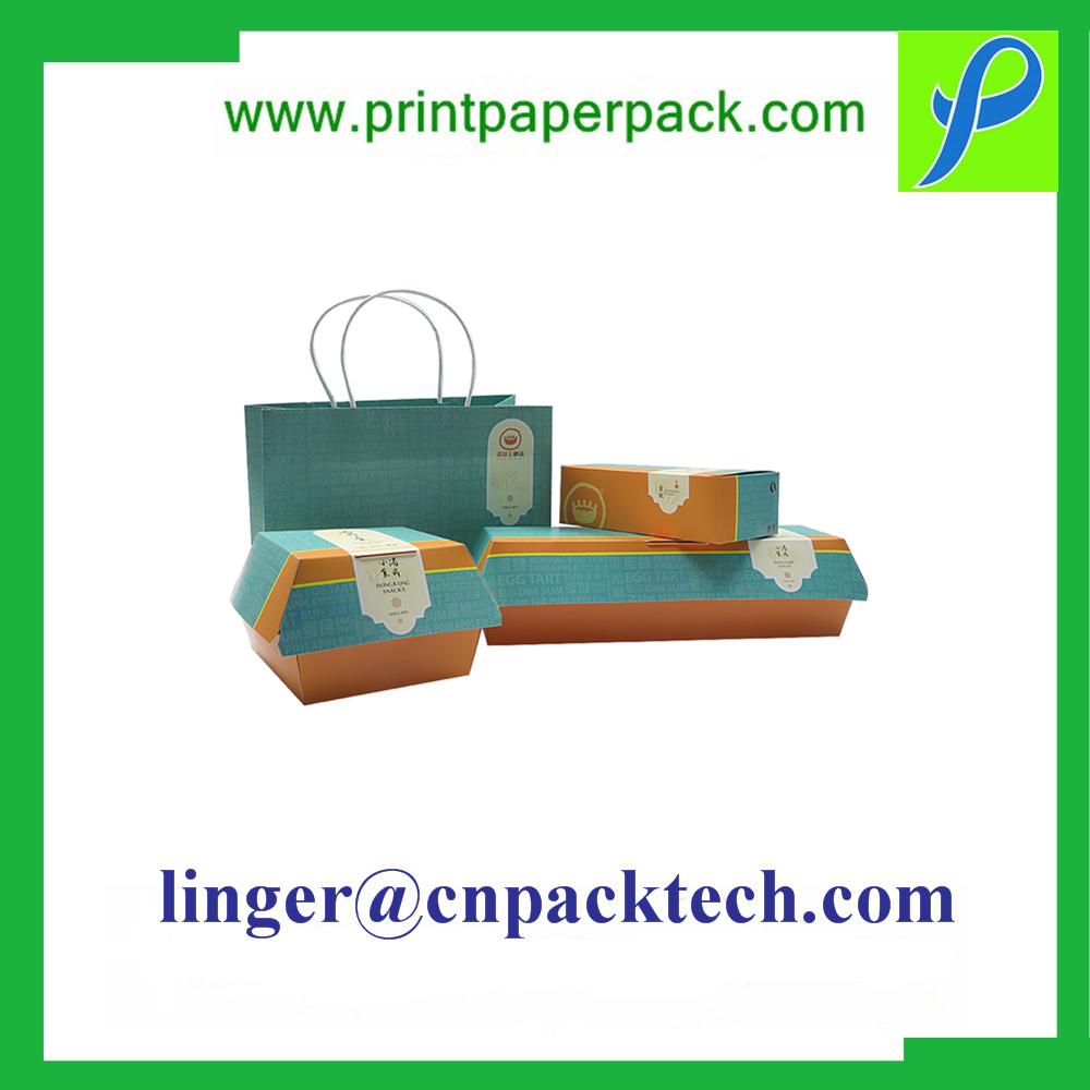 Custom Floding Printed Cardboard Paper Fast Food Box Like Burger