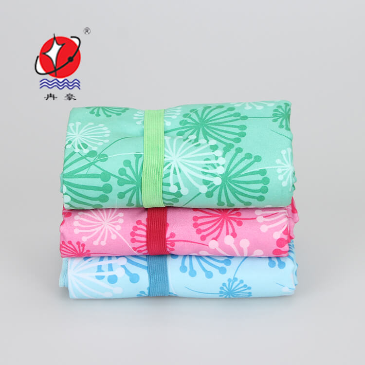 Printed Microfiber Suede Sports Towel