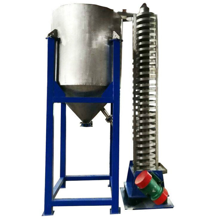 Vibrating vertical spiral conveyor