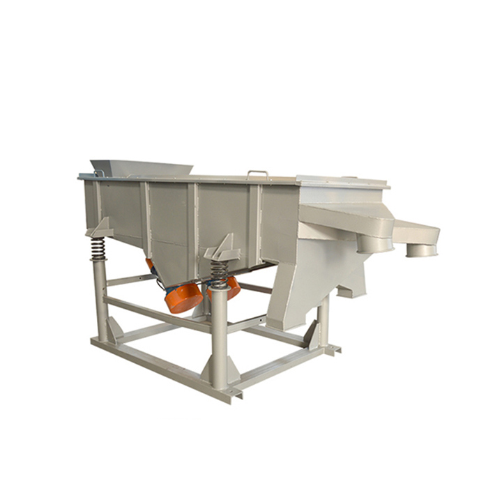 Linear vibrating sieve screen machine
