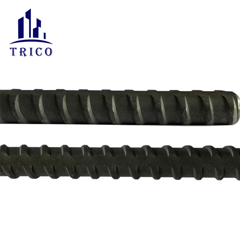 Hot Rolled Concrete Formwork Tie Rod Z Bar /  Dia15/17mm Thread Round steel bar