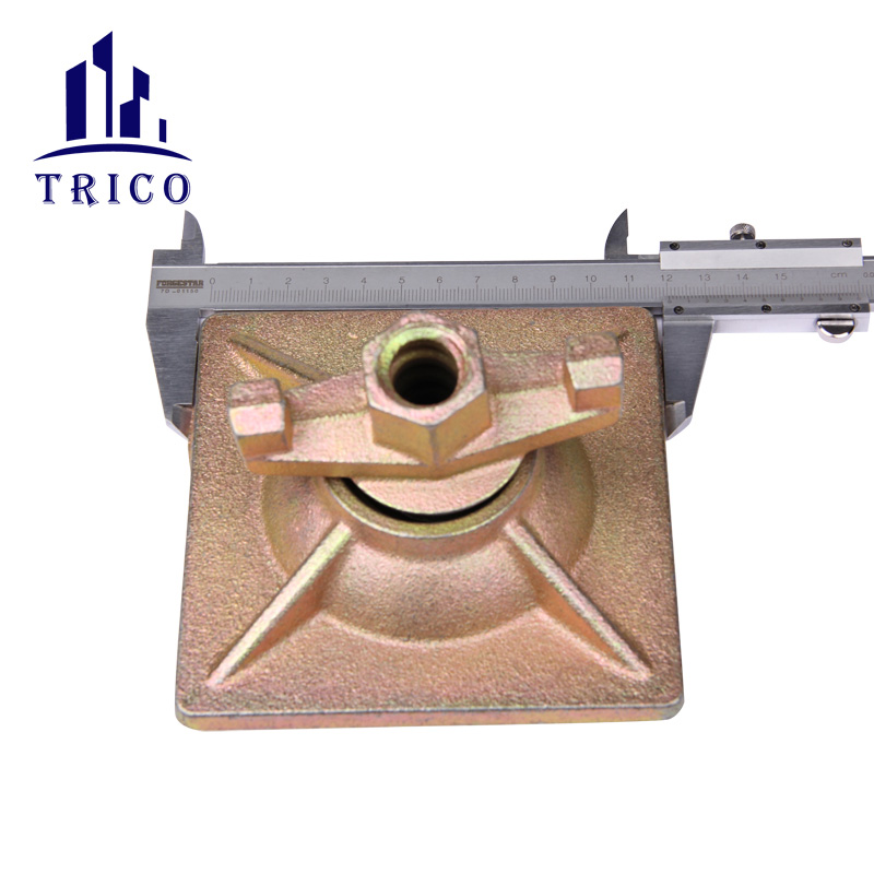 Square Plate fix anchor nut for Formwork tie rod