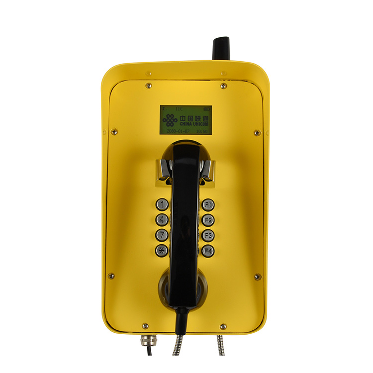 Chinese factory GSM Waterproof telephone IP66 industrial telephones with LCD display