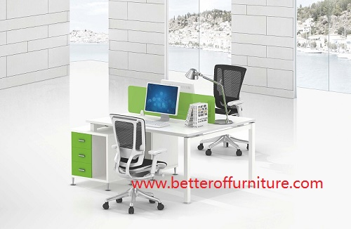 Modern open Staff Melamine top Two Person Workstations Office Desk