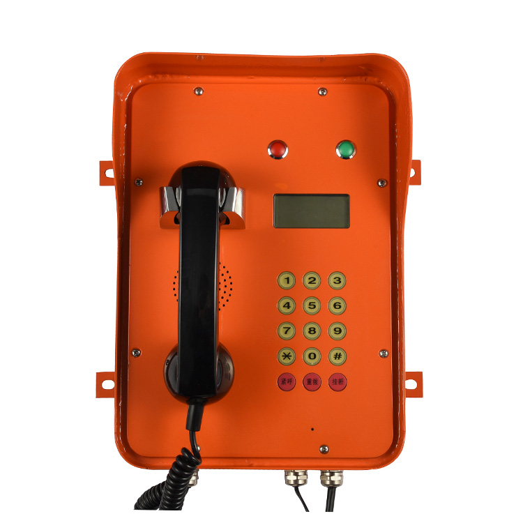 Industrial grade SIP emergency speed dial telephone with indicator light