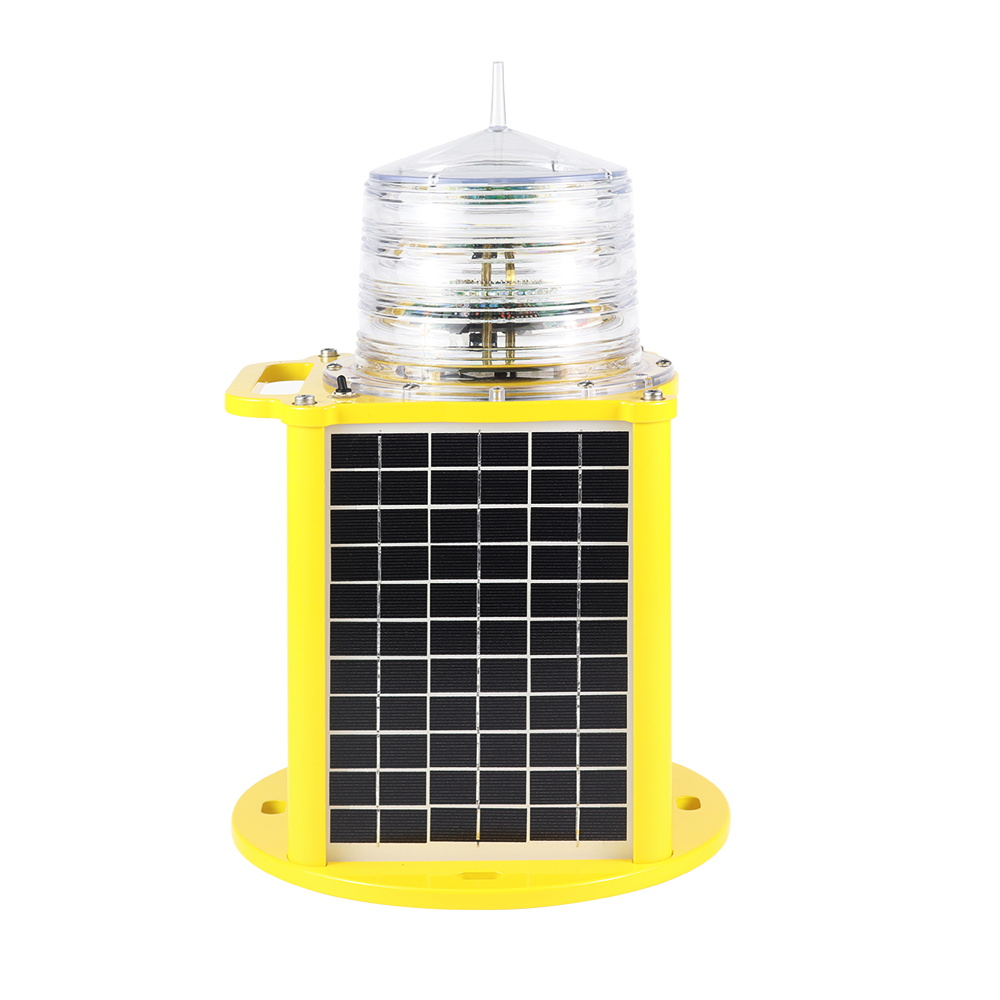 6nm portable buil in battery solar marine navigation light, marine mark light