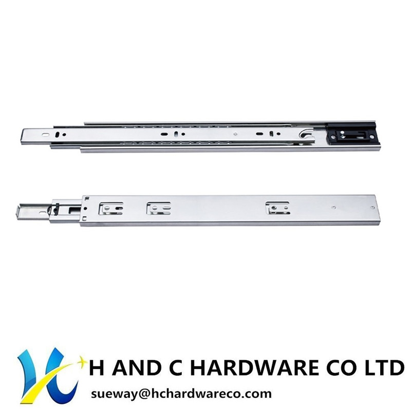 Ball Bearing Full Extension Side Rail Self Closing Drawer Slide HH4505