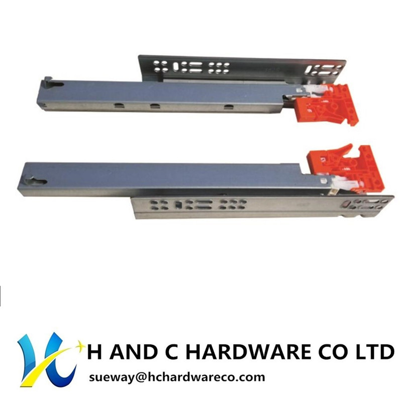 Push to Opening Soft Close Ball Bearing Drawer Slides China Factory