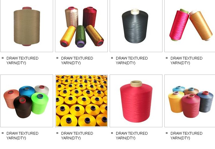 Dope Dyed Colored Polyester Yarn FDY, DTY,  POY,Embroidery thread
