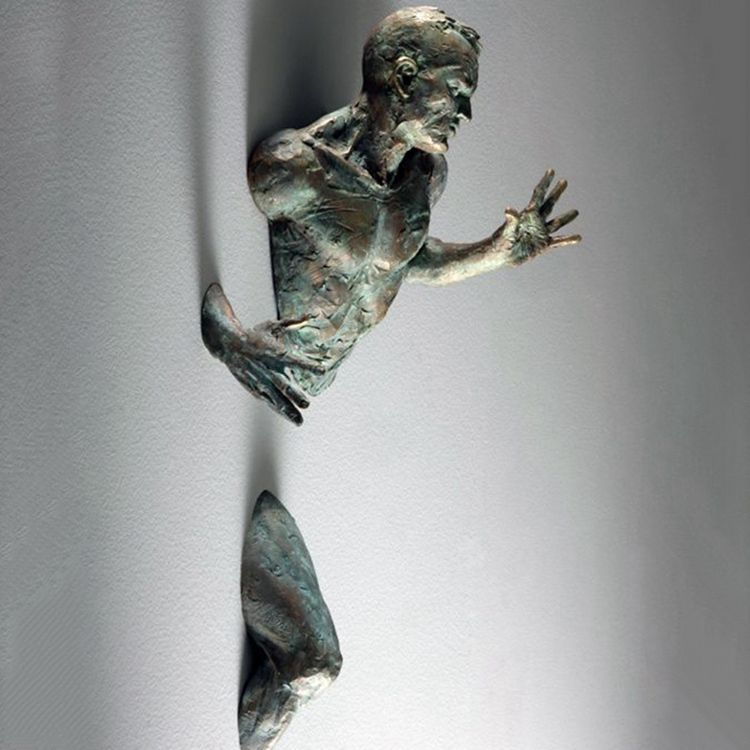 Bronze nude man limb sculpture from Matteo Pugliese