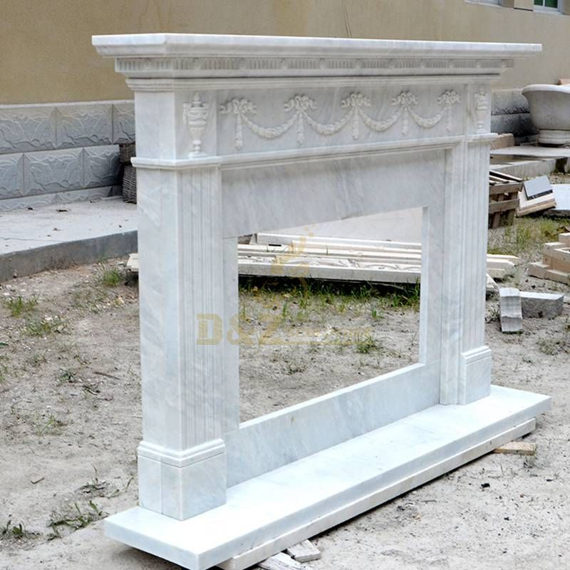 Beautiful Indoor Marble Fireplace Western Styles Marble Stone Fireplace