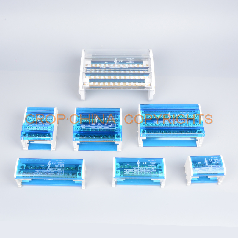 terminal box junction box with terminal block din rail copper busbar
