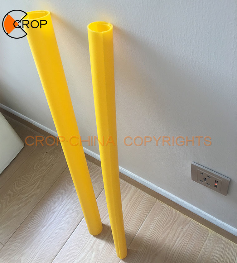 PVC plastic warning pipe for Warning Sign Pole